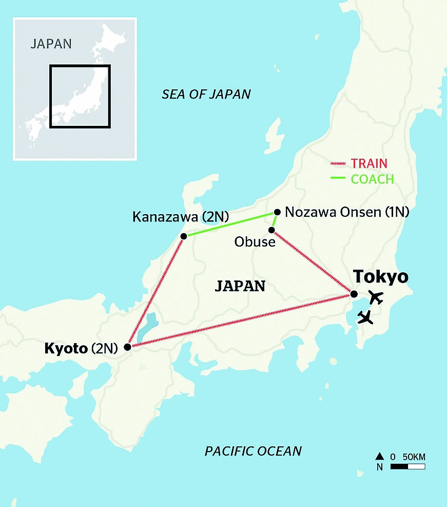Traveller Tours Japan Promo – Itinerary Map